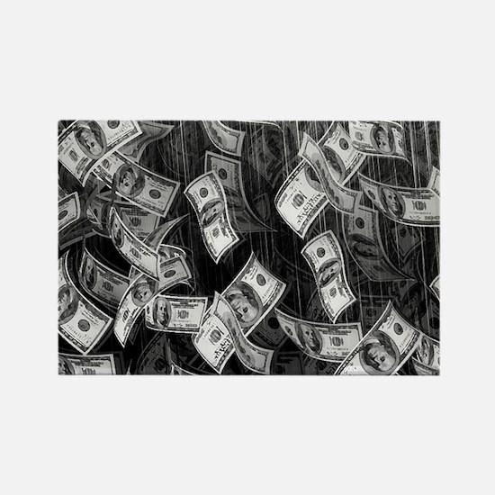 Make It Rain Cash Money Rectangle Magnet