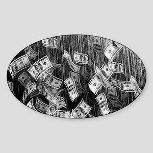 Make It Rain Cash Money Sticker (Oval)