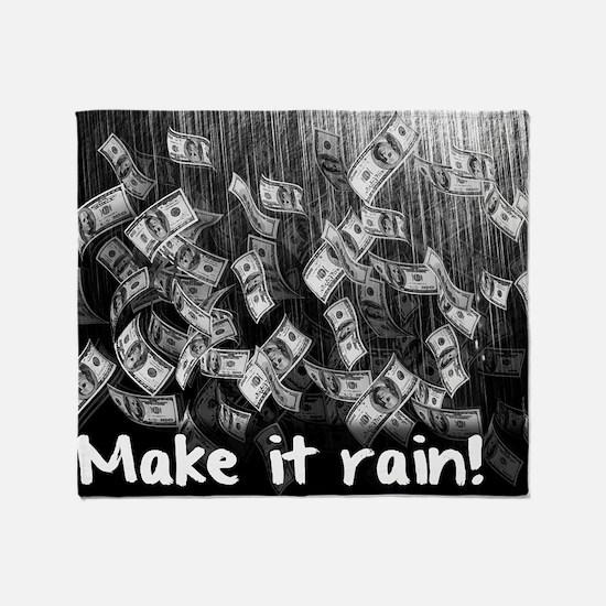 Make It Rain Cash Money Throw Blanket
