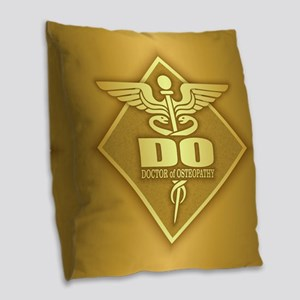 Do Gold Diamond Burlap Throw Pillow