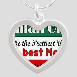 Italian Girls Silver Heart Necklace