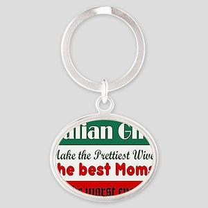 Italian Girls Oval Keychain