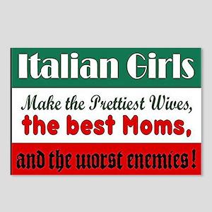 Italian Girls Postcards (Package of 8)