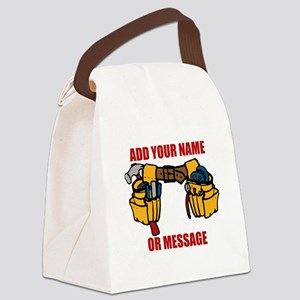 PERSONALIZED Tool Belt Graphic Canvas Lunch Bag