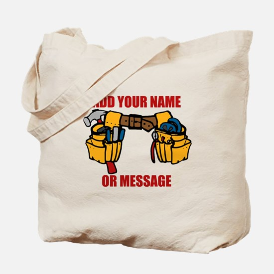 PERSONALIZED Tool Belt Graphic Tote Bag