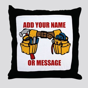 PERSONALIZED Tool Belt Graphic Throw Pillow