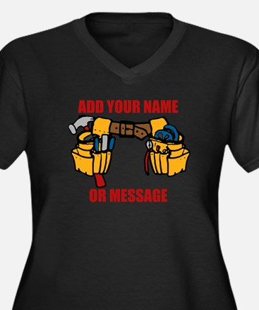 PERSONALIZED Tool Belt Graphic Plus Size T-Shirt