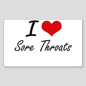 I love Sore Throats Sticker