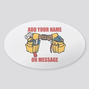 PERSONALIZED Tool Belt Graphic Sticker (Oval)