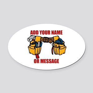 PERSONALIZED Tool Belt Graphic Oval Car Magnet