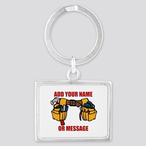 PERSONALIZED Tool Belt Graphic Landscape Keychain