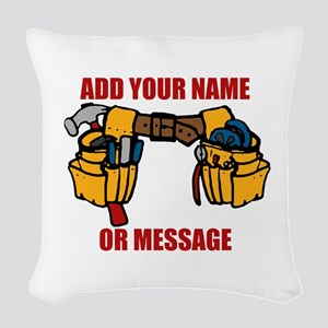 PERSONALIZED Tool Belt Graphic Woven Throw Pillow