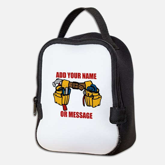 PERSONALIZED Tool Belt Graphic Neoprene Lunch Bag