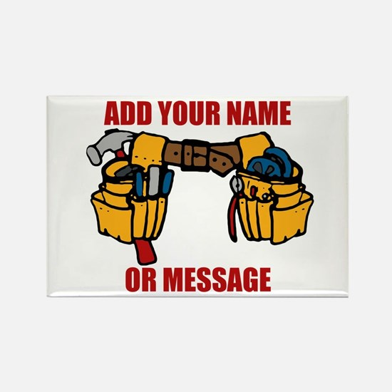 PERSONALIZED Tool Belt Graphic Rectangle Magnet