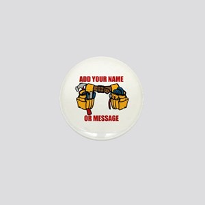 PERSONALIZED Tool Belt Graphic Mini Button