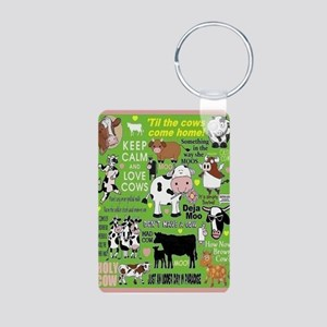 Cows Aluminum Photo Keychain Keychains