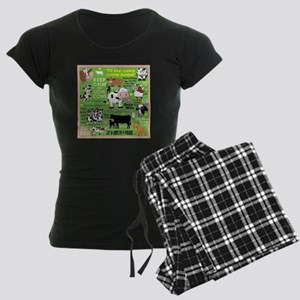 Cows Women's Dark Pajamas