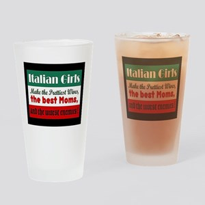 Italian Girls Drinking Glass