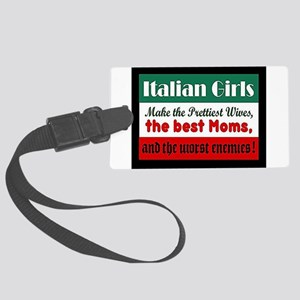 Italian Girls Luggage Tag