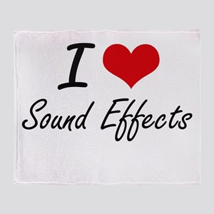 I love Sound Effects Throw Blanket
