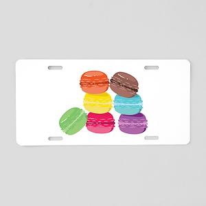 The Macaron Aluminum License Plate