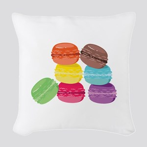 The Macaron Woven Throw Pillow