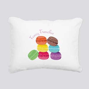 Fancy Frenchie Macaron Rectangular Canvas Pillow