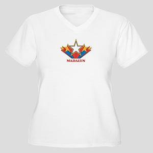 MADALYN superstar Women's Plus Size V-Neck T-Shirt