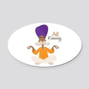 All Knowing Oval Car Magnet