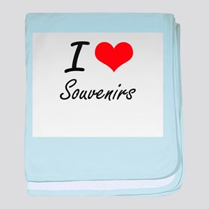 I love Souvenirs baby blanket