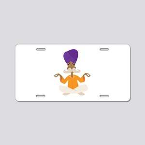 Yoga Man Aluminum License Plate