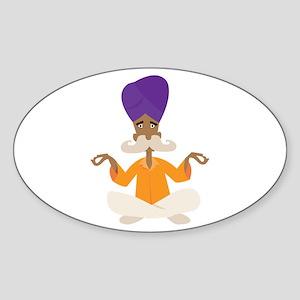 Yoga Man Sticker