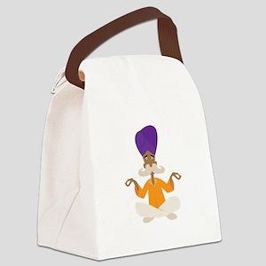 Yoga Man Canvas Lunch Bag