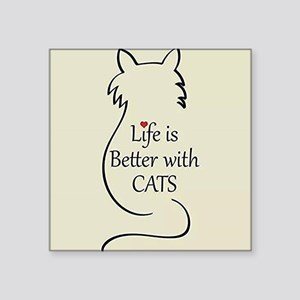 Better with Cats Sticker