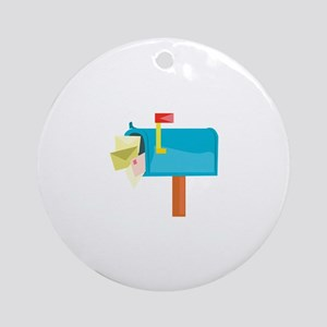 Mail Box Round Ornament