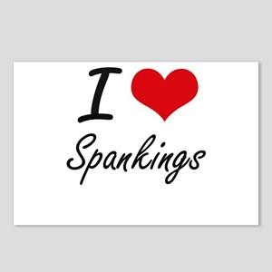 I love Spankings Postcards (Package of 8)