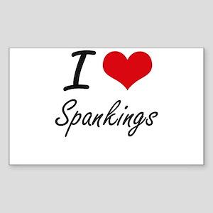 I love Spankings Sticker