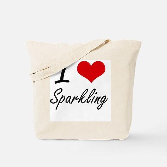 I love Sparkling Tote Bag