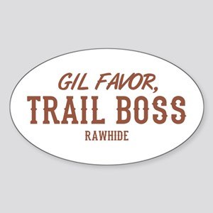 Rawhide Gil Favor Trail Boss Sticker