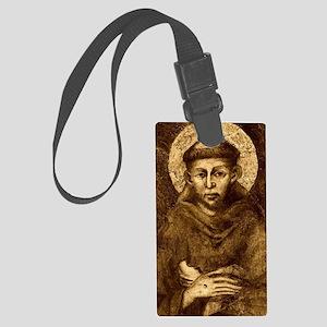 Saint Francis Portrait Large Luggage Tag