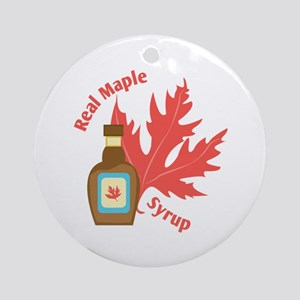Real Maple Syrup Round Ornament