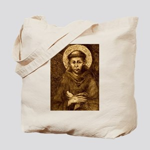 Saint Francis Portrait Tote Bag