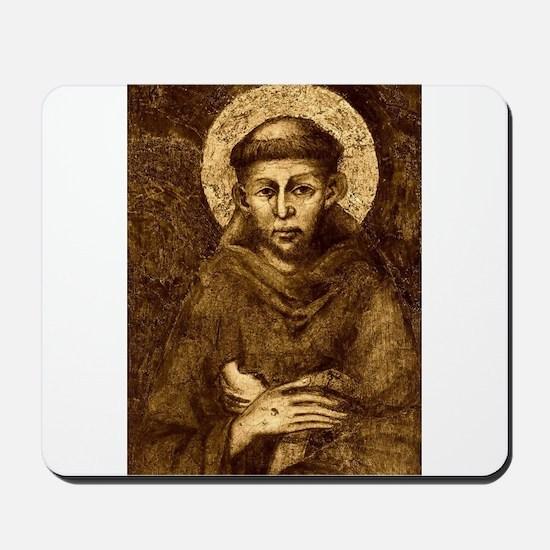 Saint Francis Portrait Mousepad