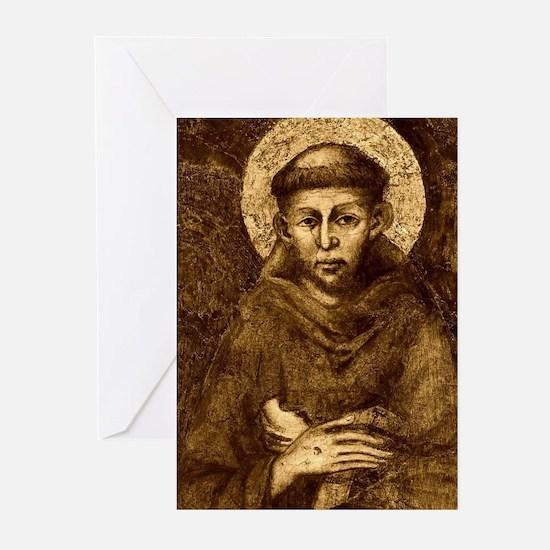 Saint Francis Portrait Greeting Cards