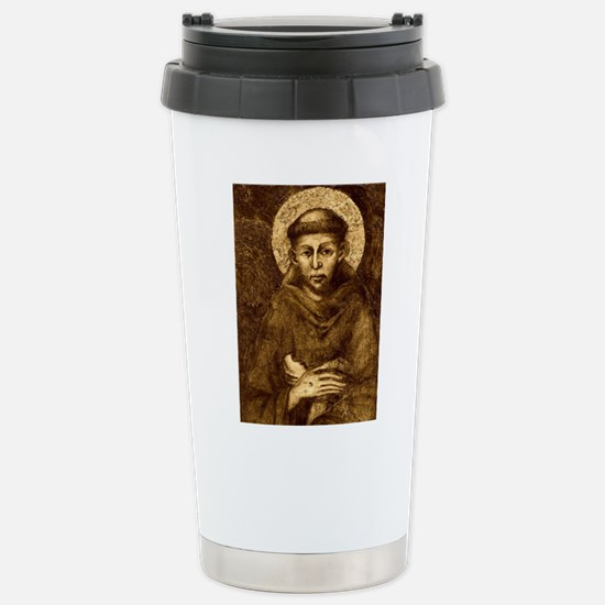 Saint Francis Portrait Stainless Steel Travel Mug