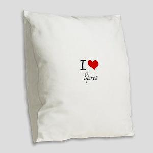 I love Spines Burlap Throw Pillow