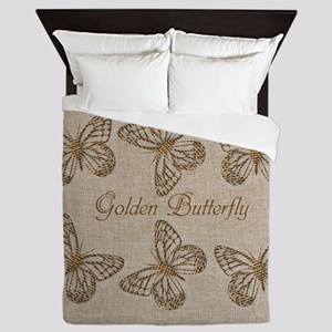Cute Chic Butterfly Queen Duvet