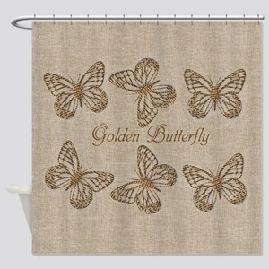 Cute Chic Butterfly Shower Curtain