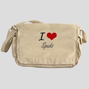 I love Spuds Messenger Bag
