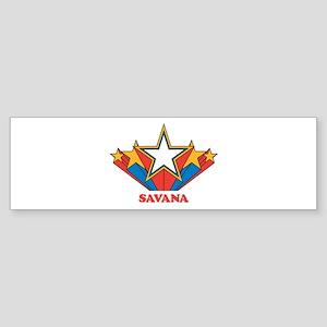 SAVANA superstar Bumper Sticker